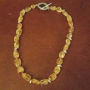 Jewelry - Silpada citrine and sterling necklace